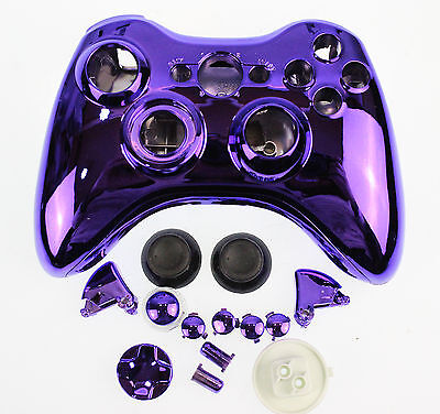 £999 • Buy Replacement Custom Chrome Purple Xbox 360 Controller Shell Case.