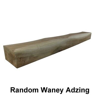 Waney Edged Solid Oak Beam Mantel Piece - Adzed - Rustic Edge - FREE DELIVERY • 37.95£