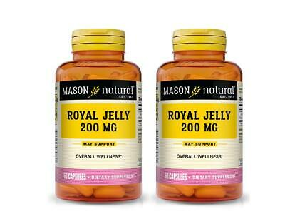 AU18.15 • Buy ( PACK OF 2 ) 60 CAPSULES ROYAL JELLY 200 MG Improved Vitality Anti Aging