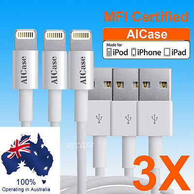 AU15.99 • Buy 3X AICase Certified Apple MFI  USB Sync Data Cable IPhone XS Max 8 XR 6