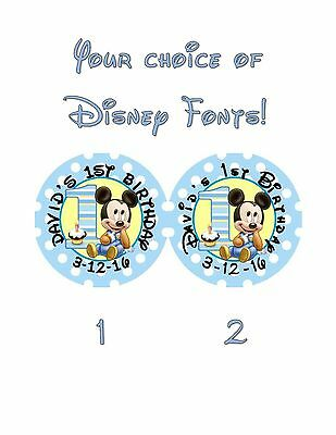 $2.99 • Buy 20 Mickey Mouse 1st First Birthday Stickers Lollipop Labels Party Favors 2 Inch