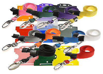 Safety Neck Strap Lanyard (Lobster Clip) AND Badge ID Card Holder Lot • 2.24£