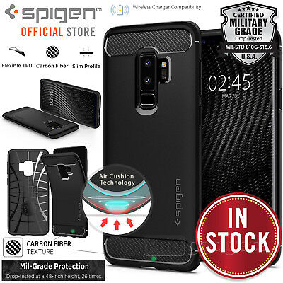 AU19.99 • Buy Genuine SPIGEN Rugged Armor Cover For Samsung Galaxy S9/8 Plus S7 Edge Case