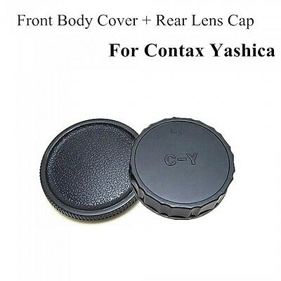 Body And Rear Lens Caps For Contax/Yashica C/Y Mount UK Seller • 3.99£
