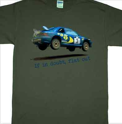 £14.99 • Buy 'If In Doubt, Flat Out' T-Shirt Inspired By Colin McRae Subaru Rally Car