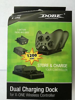DOBE DUAL Controller Charger Dock For XBOX ONE Wireless Controller • 12.95$
