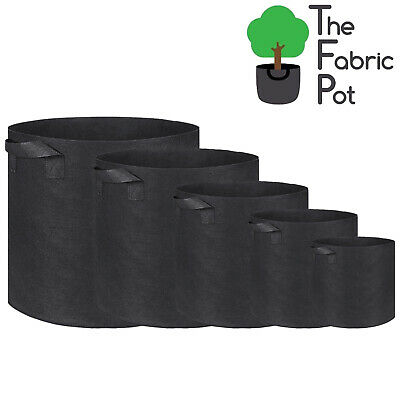 £20.70 • Buy 10 X Hydroponic Root Fabric Smart Pot Grow Bags Plant Container Pouch Bag Pots