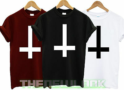£7.79 • Buy Inverted Cross T Shirt Wasted Youth Tshirt Tumblr Gift Hipster Swag Dope Unisex
