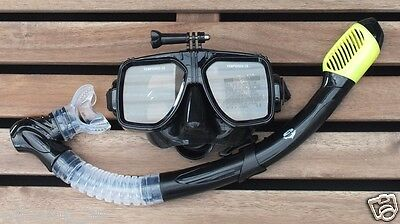 AU45.95 • Buy GoPro Mask And Dry Snorkel Scuba Diving Snorkeling Silicone Set WIL-DS-GPY
