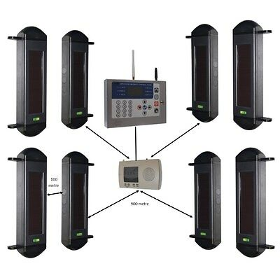£901.51 • Buy GSM Wireless Perimeter Alarm System With 4 Sets Of Beams & GSM H/D Dialler