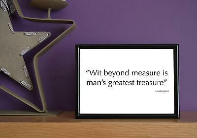Framed - Luna Lovegood - Wit Beyond Measure (Harry Potter) - Quote - 5x7 Inches • 19.99£