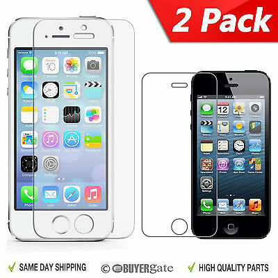 AU9.79 • Buy 2 X Genuine Tempered Glass Screen Cover Protector Apple IPhone 5 5G 5S 5C