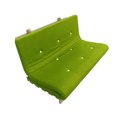 £79.99 • Buy Memory Foam Futon Mattress | Roll Out/Fold Up Guest Bed | Lime | 190cm X 140cm