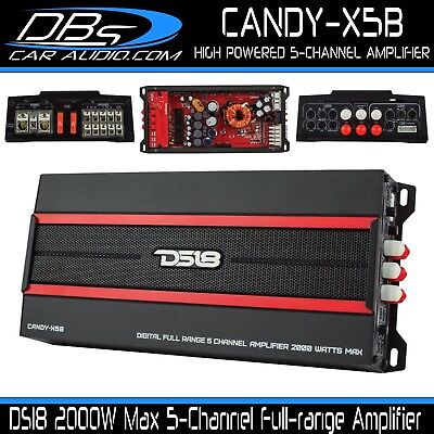 $ CDN332.87 • Buy DS18 CANDY-X5B 5 Channel Car Stereo Amplifier 2000W Max Audio Speaker & Sub Amp