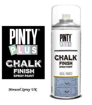 NEW - Pinty Plus CHALK Paint Spray - Ideal For Furniture & Craft Projects • 10.15£