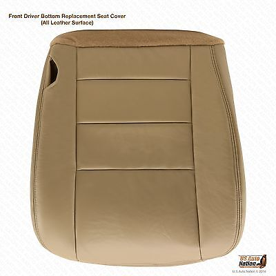 $100.49 • Buy 2004 2005 2006 Ford F250 F350 Lariat Driver Side Bottom Leather Seat Cover Tan