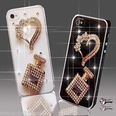 £5.99 • Buy New 3d Delux Cool Bling Perfume Diamante Case Cover 4 Various Mobile Phones Uk