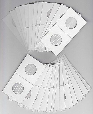 AU7.95 • Buy LIGHTHOUSE 25mm SELF ADHESIVE 2 X 2  COIN HOLDERS X 25 - SUIT SHILLING/10 CENT