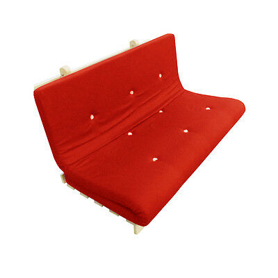 £69.95 • Buy Memory Foam Futon Mattress | Roll Out/Fold Up Guest Bed | Red | 190cm X 125cm