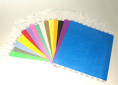 £3.50 • Buy Plain Coloured Tyvek Paper Wristbands For Events/Parties/Security/Festivals