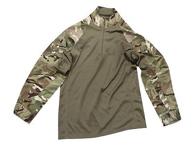 British Army Mtp Under Body Armour Combat Shirt- Ubacs - Used - Size Medium  • 17.99£