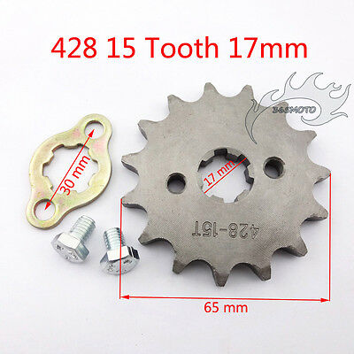 AU9.94 • Buy 428 15T 17mm Front Engine Sprocket Gear For Pit Dirt Bike Lifan YX 50-160 Cc ATV