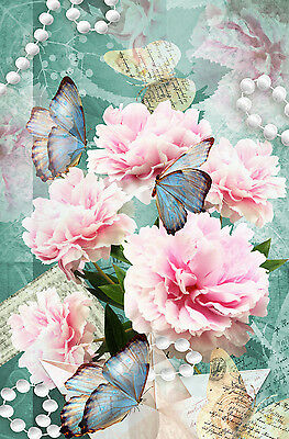 £29.99 • Buy Beautiful Rustic Floral Canvas Picture #69 Stunning Shabby Chic Romantic Canvas