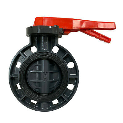 $114.61 • Buy New Sch 80 PVC 6 Inch Butterfly Valve Locking Handle Butterfly Valve New PVC