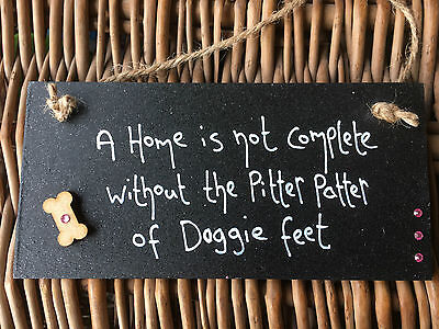 Personalised Dog Plaque Gifts For Dog Lovers Sign Pug Sausage Boxer Scottie Pet • 5.99£