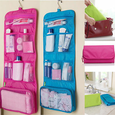 AU8.99 • Buy Large Travel Organiser Toiletries Hanging Wash Bag Toiletry Cosmetic Makeup Bag