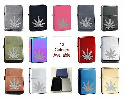 £4.99 • Buy Hash Leaf 30 Personalised Engraved Star Lighter In Gift Tin
