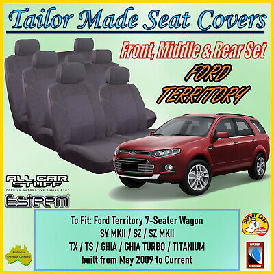 AU178.94 • Buy Tailor Made Grey Seat Covers For Ford Territory 7 Seater From 05/2009 - Current