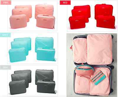 AU12.99 • Buy 5Pcs Ultra Light Luggage Organiser Suitcase Packing Cubes Travel Pouches Bags