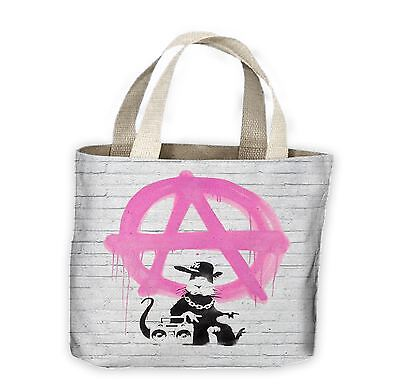 £9.99 • Buy Banksy Anarchy Rat Tote Shopping Bag For Life