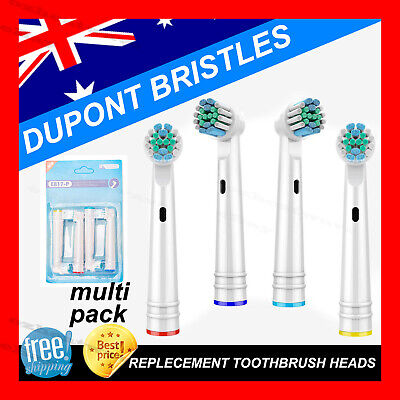 AU17.90 • Buy Electric Toothbrush Heads Oral B Compatible Replacement Brushx20 Precision Clean
