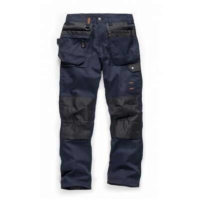 Scruffs WORKER PLUS Trousers Multi-Pocket Navy (Various Sizes) Trade Mens Work • 32.95£
