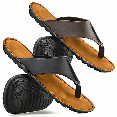 Mens Gladiator Sandals Summer Beach Cushioned Walking Flip Flop Mules Shoes Size • 9.98£