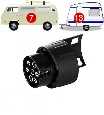 7 Pin To 13 Pin TRAILER/CARAVAN TOWBAR TOWING SOCKET ADAPTOR PLUG CONVERTER  • 6.65£