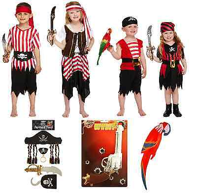 £9.99 • Buy Pirate Fancy Dressing Up Costume Children Outfit Caribbean Buccaneer Deck Lot