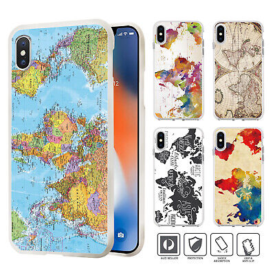 Vintage World Map Case Cover For IPhone 11 Pro XS MAX XR X 8 7 SE 6 6S Plus 019 • 4.88£
