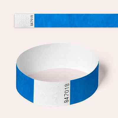 £2.10 • Buy Blue Plain And Customised Printed Tyvek Wristbands, Paper Like, Security, Party