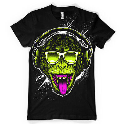 FUNKY MONKEY DJ HEADPHONES Mens T-shirt Tee • 6.99£
