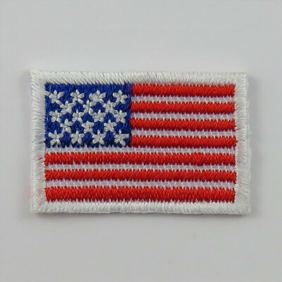 United States Of America Flag TINY Iron-on Cloth Patch Badge American US USA • 0.99£