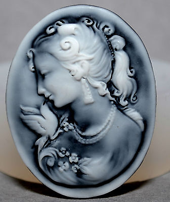 LADY CAMEO SILICONE MOULD Cupcake Polymer Clay Chocolate Resin Fimo Mold • 3.99£