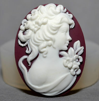 Cameo Lady Silicone Mould Cupcake Polymer Clay Chocolate Resin Fimo Mold Plaster • 3.99£