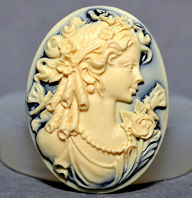 Cameo Lady Silicone Mould Cupcake  Polymer Clay Chocolate Sugarcraft Fimo Resin • 3.99£