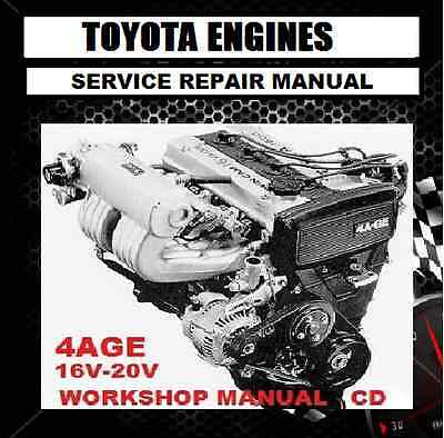 AU11.95 • Buy TOYOTA 4A-GE 4AGE 4AFE 16V 20V ENGINE And 4A-GZE 4AGZE WORKSHOP  MANUAL