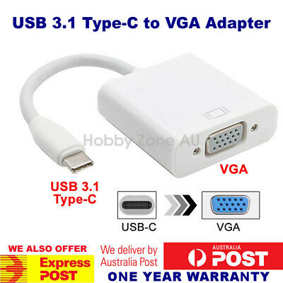 AU13.49 • Buy USB 3.1 Type-C USB-C To VGA 1080p HDTV Adapter Cable Samsung S10  MacBook Huawei