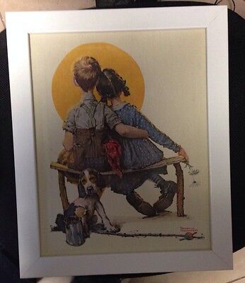 $ CDN45.13 • Buy Norman Rockwell Lithograph On Canvas LITTLE SPOONERS - SUNSET