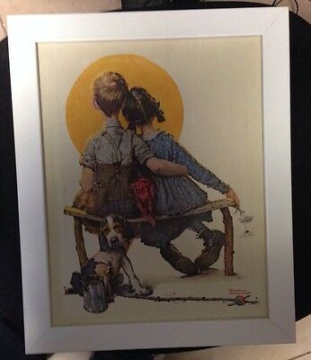 $ CDN59.17 • Buy Norman Rockwell Lithograph On Canvas LITTLE SPOONERS - SUNSET